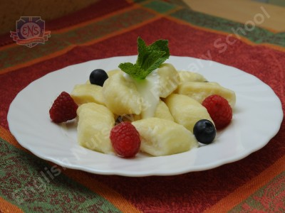 Lazy cottage cheese dumplings