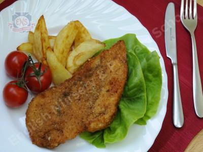 Куриный шницель с запечённым картофелем