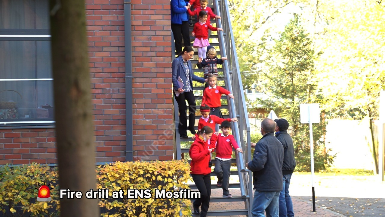 Fire drill at ENS Mosfilm